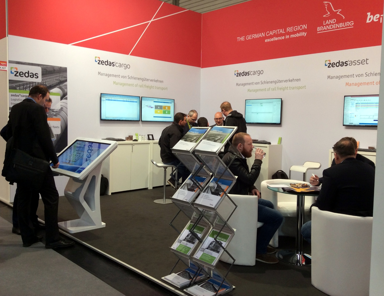 ZEDAS transport logistic Messestand